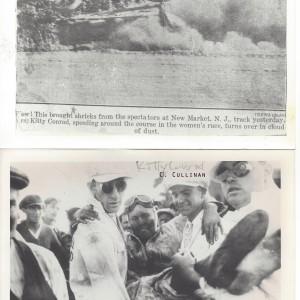1933 Kitty Conrad Crash, New Market Speedway