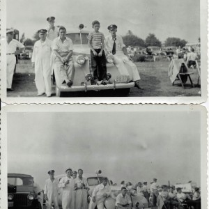 On duty during a community event, 1947.