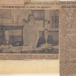 Arthur Reicher Elected NJSFAC President, 1952